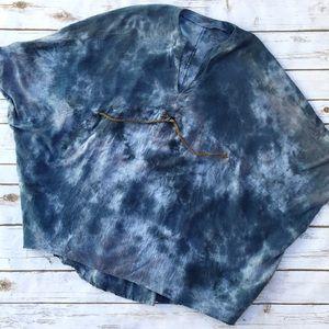 699f4822807 Amorroma Tops   Unusual Jean Colored Peasant Tunic Top Lagenlook ...