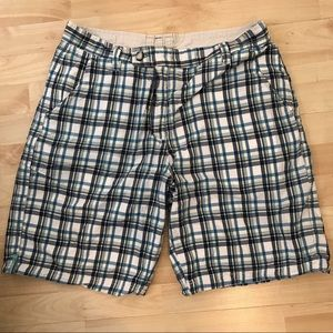 Howe Other - Howe Blue and green plaid men's shorts