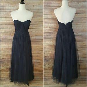 Jenny Yoo Dresses & Skirts - Jenny Yoo Navy Sweetheart Neckline Tool Gown