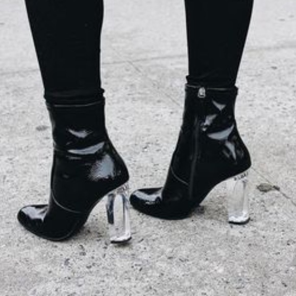 e14bf088d5 LF Shoes | Lowest Steve Madden Patent Leather Eminent Booties | Poshmark