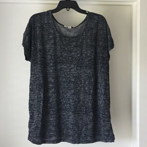 Sejour Tops - Sejour sheer knit round neck plus tee Nordstrom