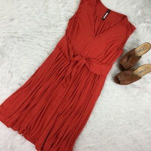 Plenty Tracey Reese Orange Sleeveless Jersey Dress