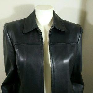 Valerie Stevens Jackets & Blazers - Black Lamb Skin Leather Jacket