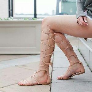 ZARA Roman Gladiator Leather Sandals sz 37 NWT