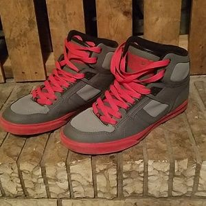 Osiris Other - Gray and red high tops