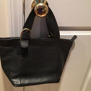 Coach Great condition vintage black gold hardware