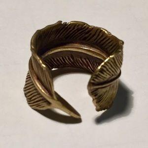 M. Cohen Mens Feather Cuff Ring RIoqi