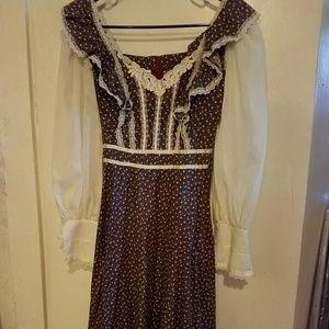 Gunne Sax Bohemian Dress Gunne Sax dress vintage