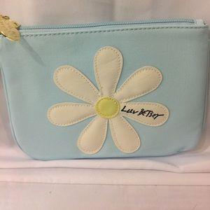 Betsey Johnson Handbags - New Betsey Johnson flower clutch/wristlet blue!