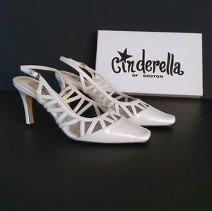 Cinderella of Boston - Pearl White Slingbacks