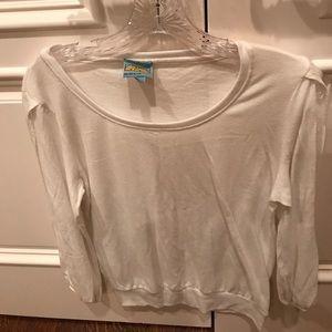 C&C California Tops - C & C California White Shirt With Sleeve Cutouts