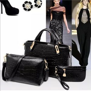Handbags - 3 piece Purse Set 🖤