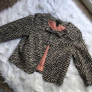 Willi Smith Jackets & Blazers - Willi Smith Zebra Print 3/4 Sleeve Blazer