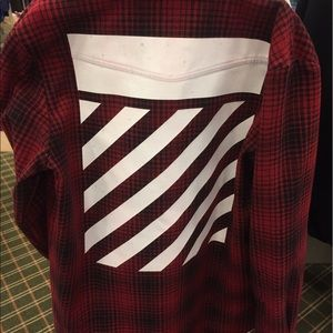Off-White Other - Off-White Red Tartan Shirt *LIMITED TIME ONLY*