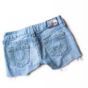 True Religion Cut Off Shorts