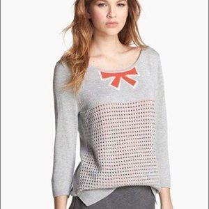 hinge Sweaters - Hinge bow pointelle sweater
