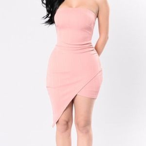 Fashion Nova Dresses & Skirts - Pink strapless dress