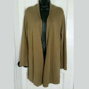 Soft Surroundings Open Front Cardigan Sweater PS