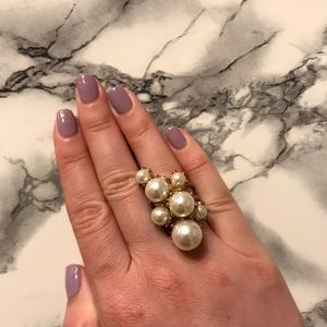 Jewelry - Faux pearl cocktail ring