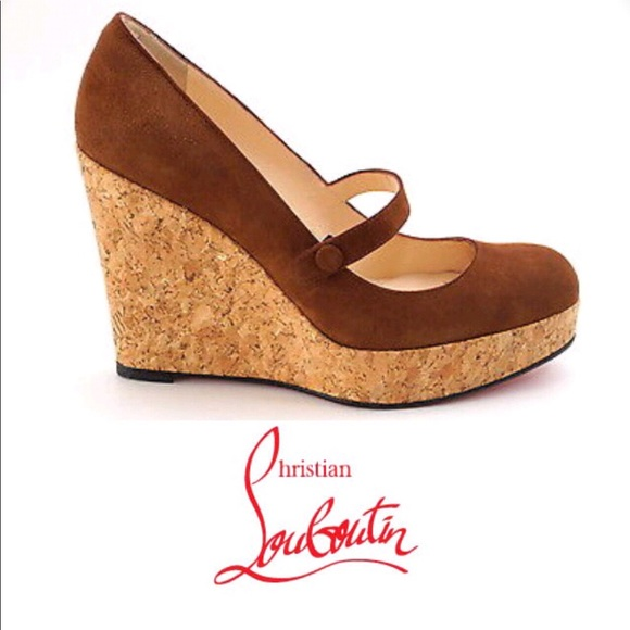 4e1567055282 Christian Louboutin Shoes - Authentic CHRISTIAN LOUBOUTIN Mary Jane Cork  Wedge