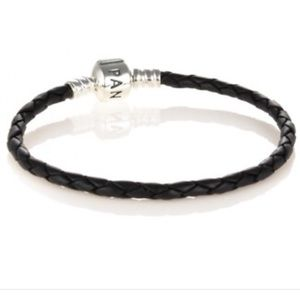 Pandora Jewelry - Pandora Black Leather Bracelet