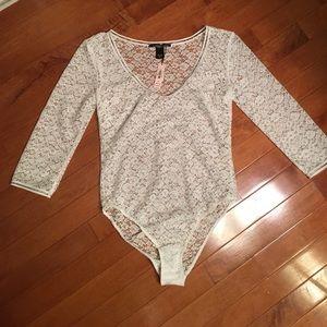 Victoria's Secret Tops - New Victoria's Secret Long Sleeve Crochet Bodysuit
