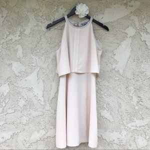 ASOS Embellished Double Layer Skater Dress