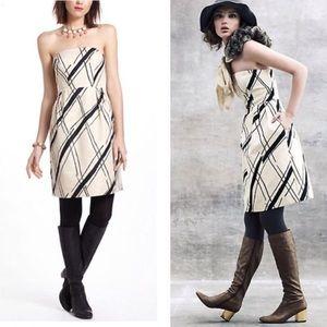 Anthropologie Dresses & Skirts - Anthro Girls from Savoy Dashed Gilt Brocade dress