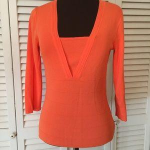 Cable &Gauge Orange Tunic Size Small