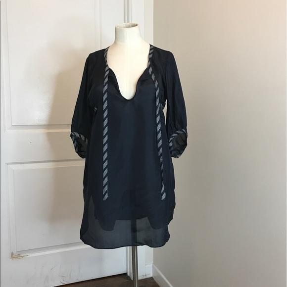 51d96d43d9701 Navy silk tunic by Sunner