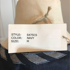 82e3037e5800e Sunner Tops - Navy silk tunic by Sunner