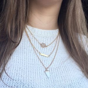 Marble necklace set