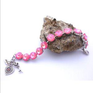 Siggy Jewelry Jewelry - Swarovski Crystal Bubble Gum Pink 12mm Bracelet