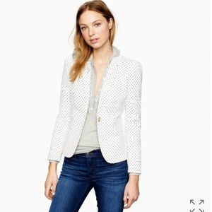 NWT J.crew puff sleeves blazer in triangle dot