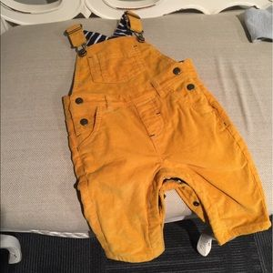 Mini Boden Other - Mini Boden 3-6mth Mustard Corduroy Overalls