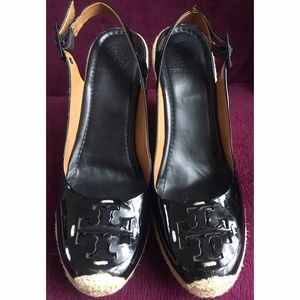 Tory Burch Shoes - Tory Burch Patent Leather Wedges Spadrille Heel.