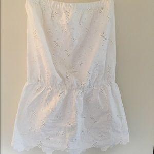 Shoshanna Other - Shoshanna sz M white strapless swim suit coverup