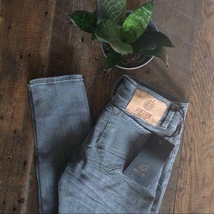 Grey Skinny Denim Designer Jeans
