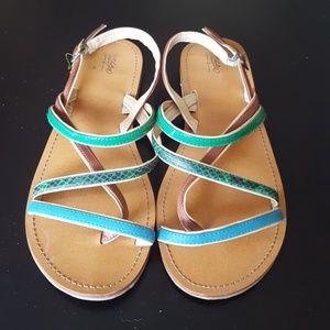 Multi-colored Stripey Sandals - Merona- Size 7