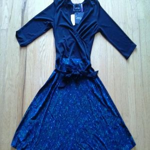 Leota Dresses & Skirts - [Leota] NWT faux wrap dress sz S