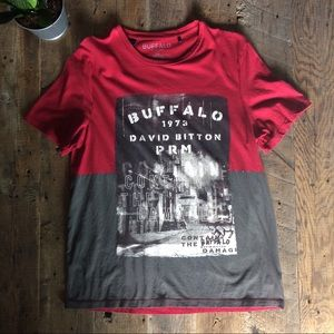 MENS | Buffalo | T-Shirt Red and Gray