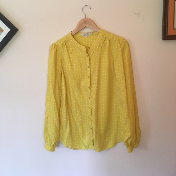 81 off boden tops boden sunny yellow polka dot blouse for Boden yellow