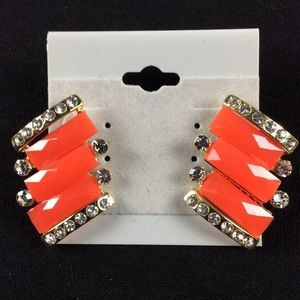 Jewelry - New Red Chunky Stud Earrings