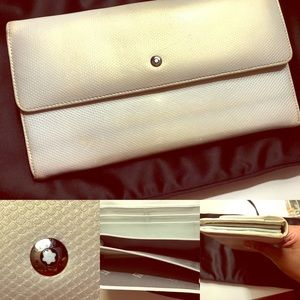 Montblanc Handbags - Authentic, Montblanc wallet in silver iridescent