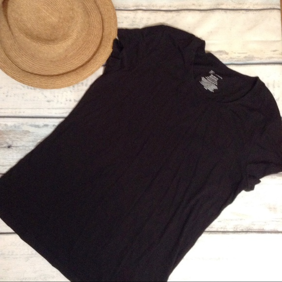 Plus Size Black Tee Shirt 21