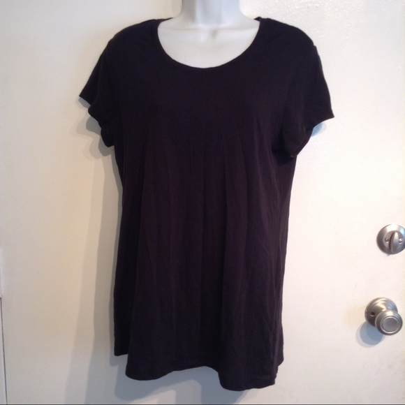 Plus Size Black Tee Shirt 117