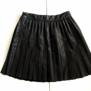 Sparkle & Fade Dresses & Skirts - Urban Outfitters pleated faux leather circle skirt