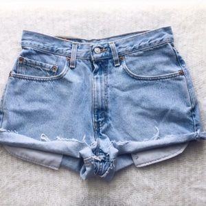 Levi's Pants - High Waisted Vintage Levi Shorts