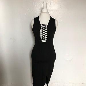 LF Black Midi dress
