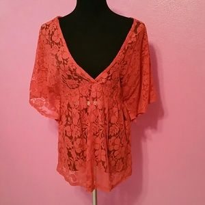 Eyeshadow Tops - NWOT - Eyeshadow Lace Top